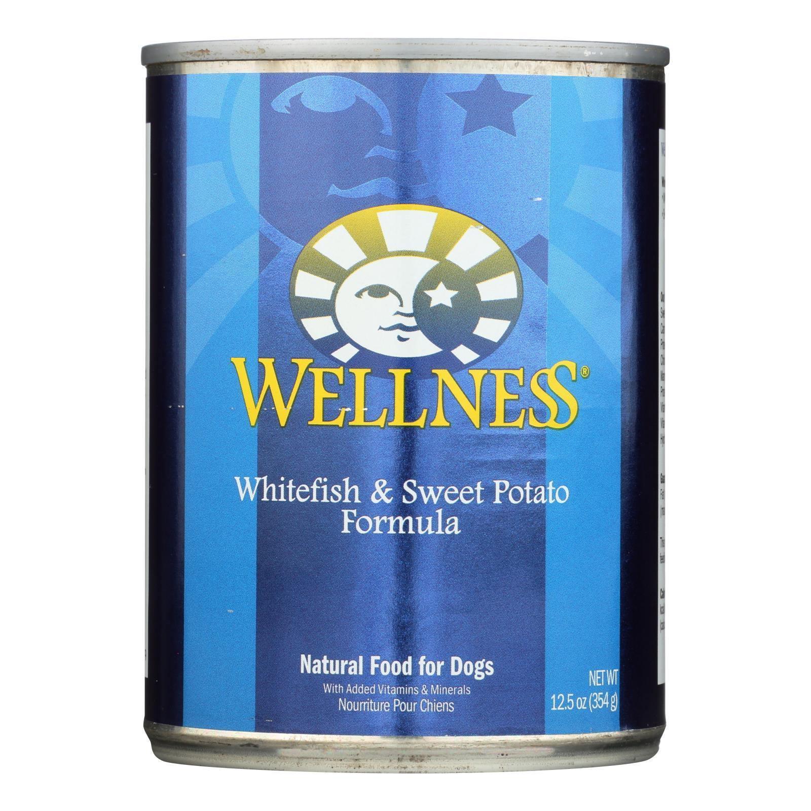 Wellness Fish & Sweet Potato Canned Dog Food (12x125 Oz)