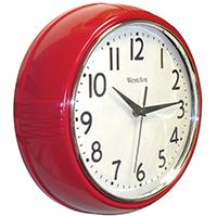 "9.5"" Red Deep Wall Clock"