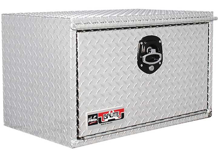 Brute HD Under Body Tool Box; Polished Aluminum; 18 in. x 48 in. Drop Down Door;