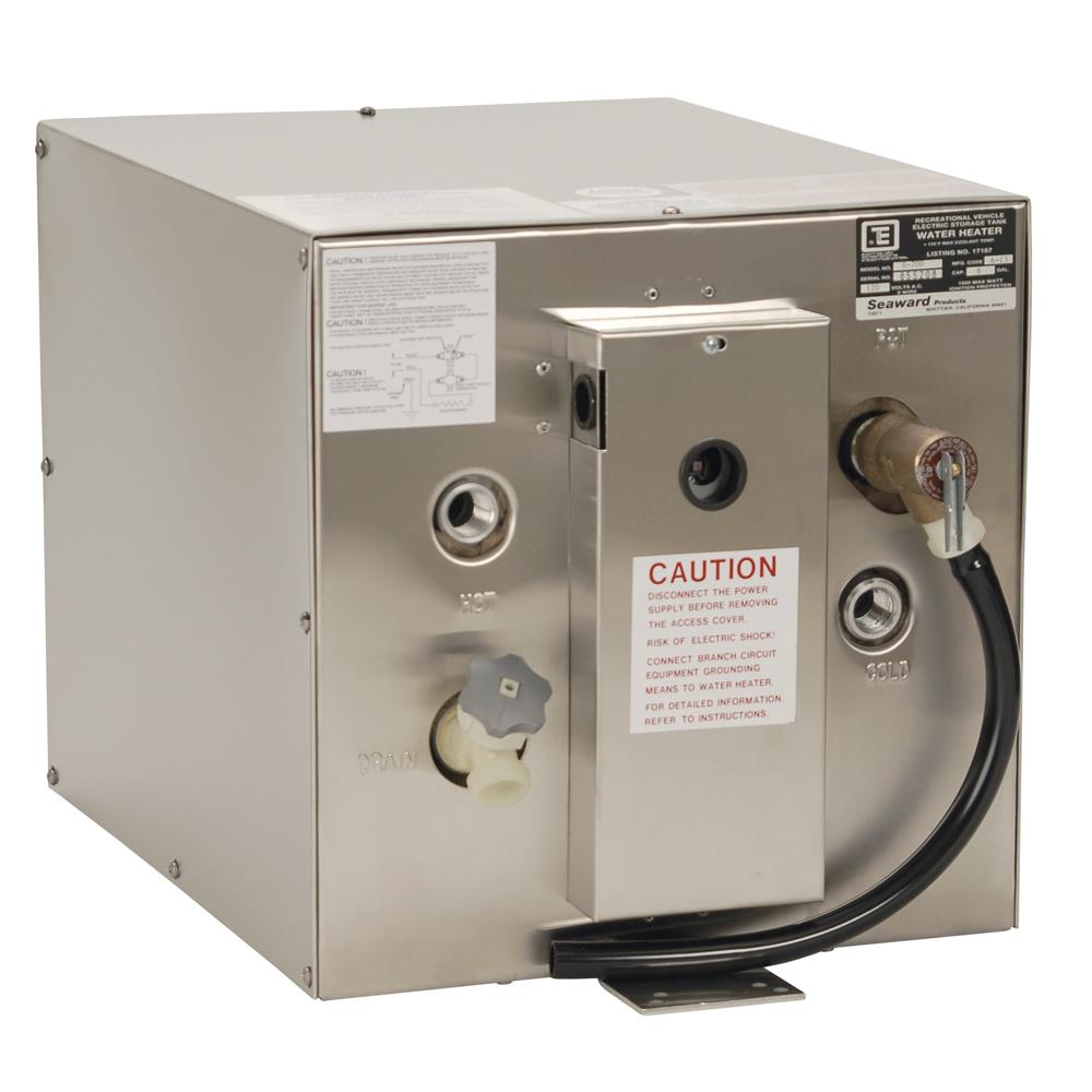 Whale Seaward 6 Gallon Hot Water Heater w/Rear Heat Exchanger - Stainless Steel - 120V - 1500W