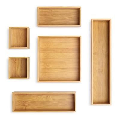 Bamboo Drawer Organizer S 6