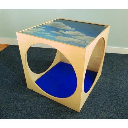 Acrylic Top Playhouse Cube W/Flr Mat Set