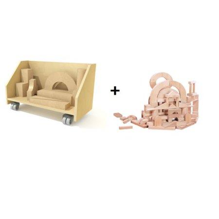 Block Cart And Building Block Set