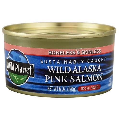Wild Planet Alaska Pink Salmon No Salt (12x6 OZ)