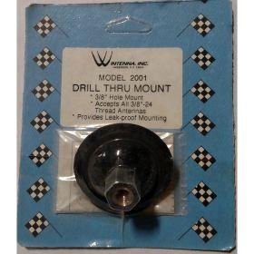 "WINTENNA -  DRILL THRU ROOF OR DECK MOUNT WITH 3/8 X 24"" THREAD STUD"