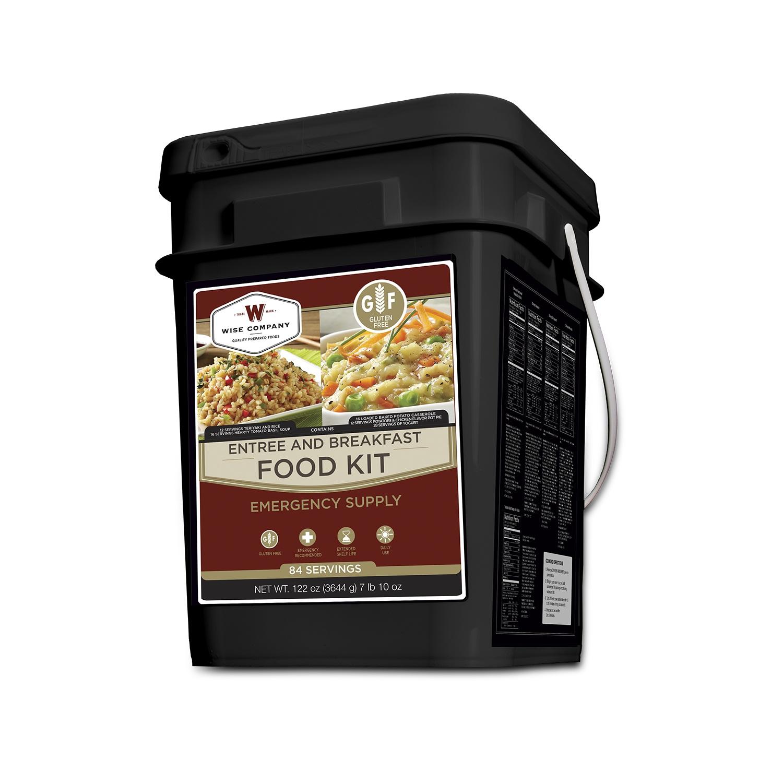 Wise Food 84 Serving Breakfast Entree GrabGo Gluten Free Kit