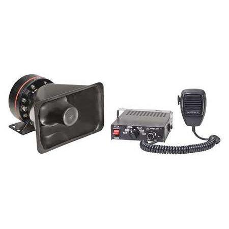 ALERT SIREN & SPEAKER SYSTEM ELECTRONIC SIREN POWERFUL (3)TONE 80WATT & PA SYSTEM