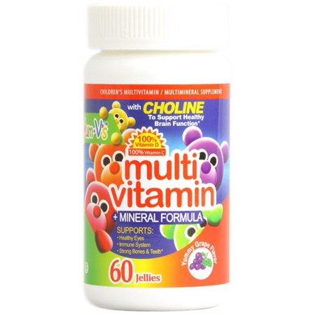 Yum V's Multi Vitamin plus Mineral Formula Jellies Yummy Grape (60 Chewables)
