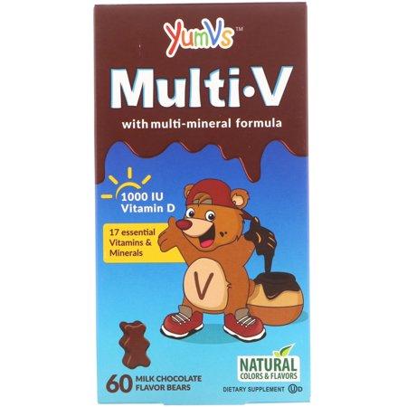 Yum V's Multi-V plus Multi-Mineral Formula Milk Chocolate 60 Bears