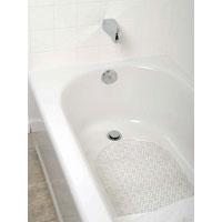 Zenith 80KK04 Bubble Bath Mat, 27-1/2 in L X 15.7 in W, Vinyl, Clear