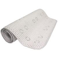 Zenith 79WW04 Bath Mat, 36 in L X 17 in W, PVC Foam, White