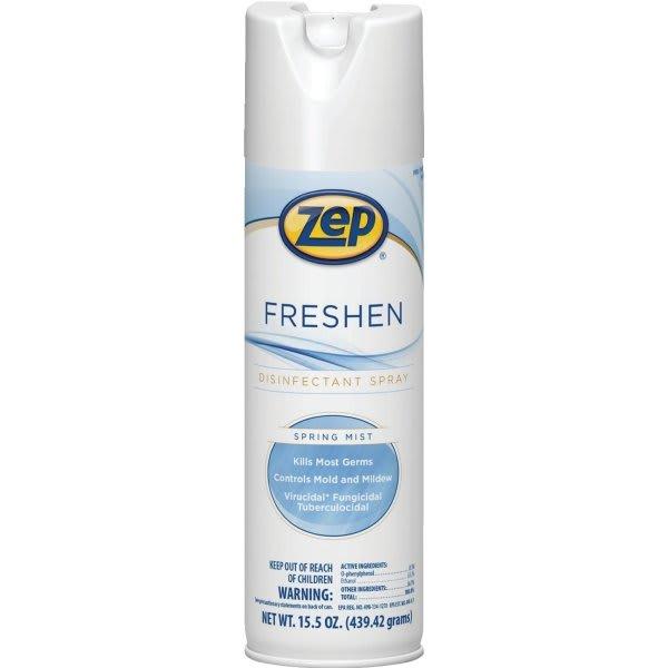 Freshen Disinfectant, Spring Mist, 15.5 oz Aerosol Can, 12/Carton
