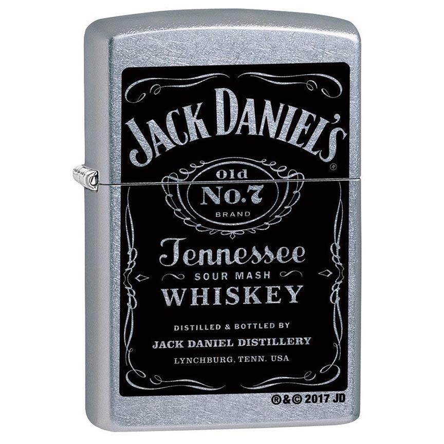 Zippo Windproof Lighter Jack Daniel's Label Street Chrome Finish