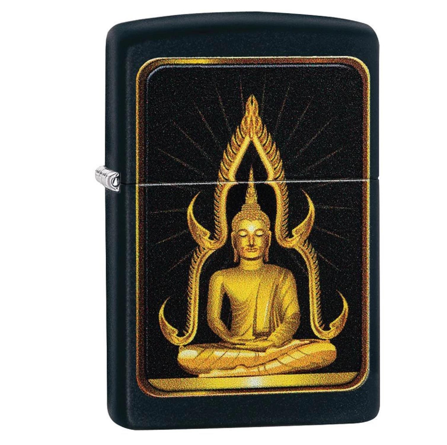 Zippo Matte Black Buddha Lighter