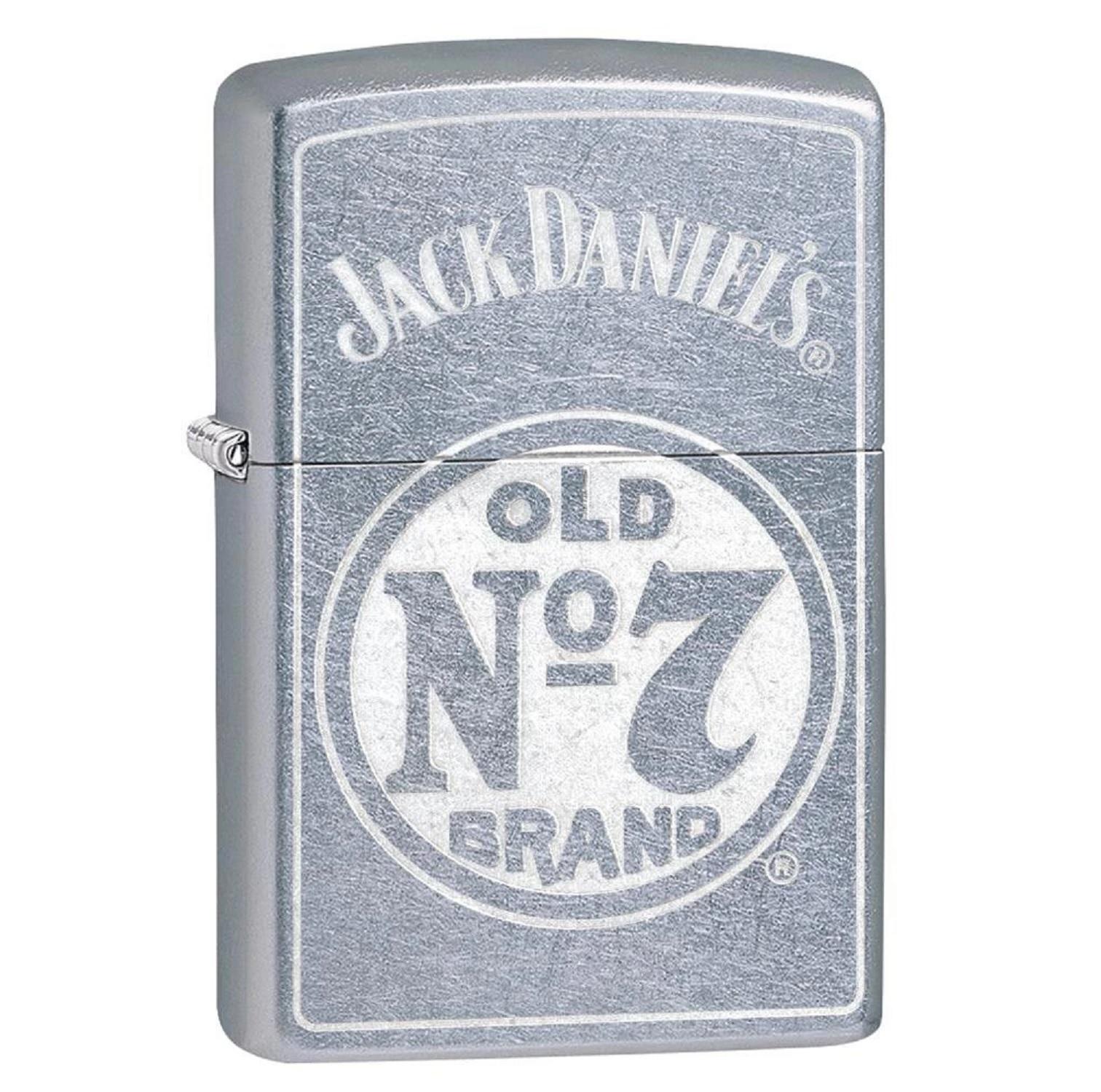 Zippo Street Chrome Jack Daniel No 7 Lighter