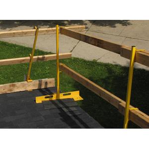 Open Edge Guardrail System Bracket & Post