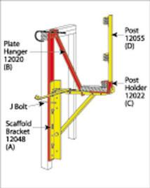 Scaffolding/Staging Bracket - Over Plate Hanger For Scaffolding Bracket