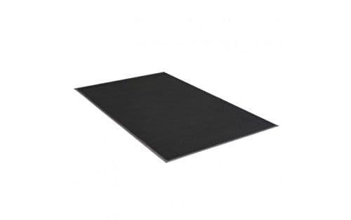 3' x 5' Plush Tuff Olefin Solids Mat Black