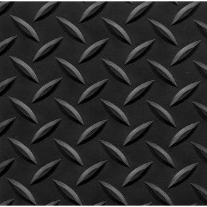 "4' x 75' Conductive Diamond Foot Mat 9/16"" Black"