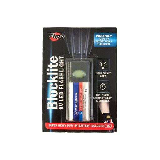 Blocklite 9-Volt Battery LED Flashlight