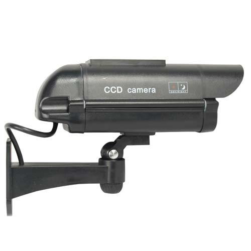 Solar Powered Dummy Camera - Black