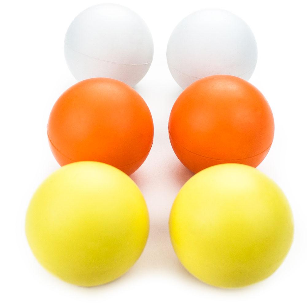 6 Multi-color Regulation Size Lacrosse Balls in Mesh Bag