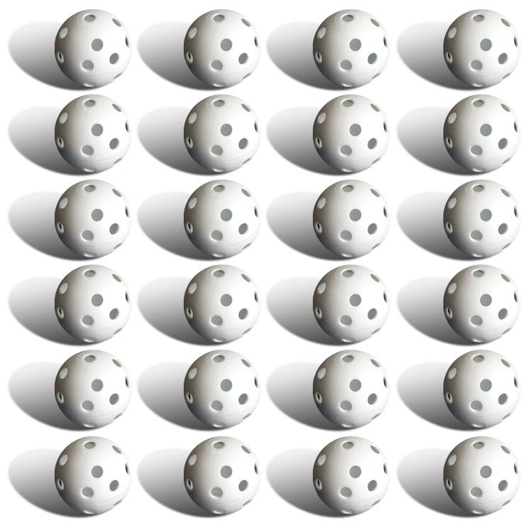 24 Polyurethane White Plastic Golf Balls