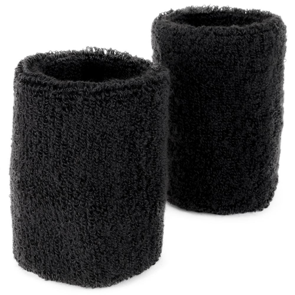 Wrist Sweatbands 2-pack, Black