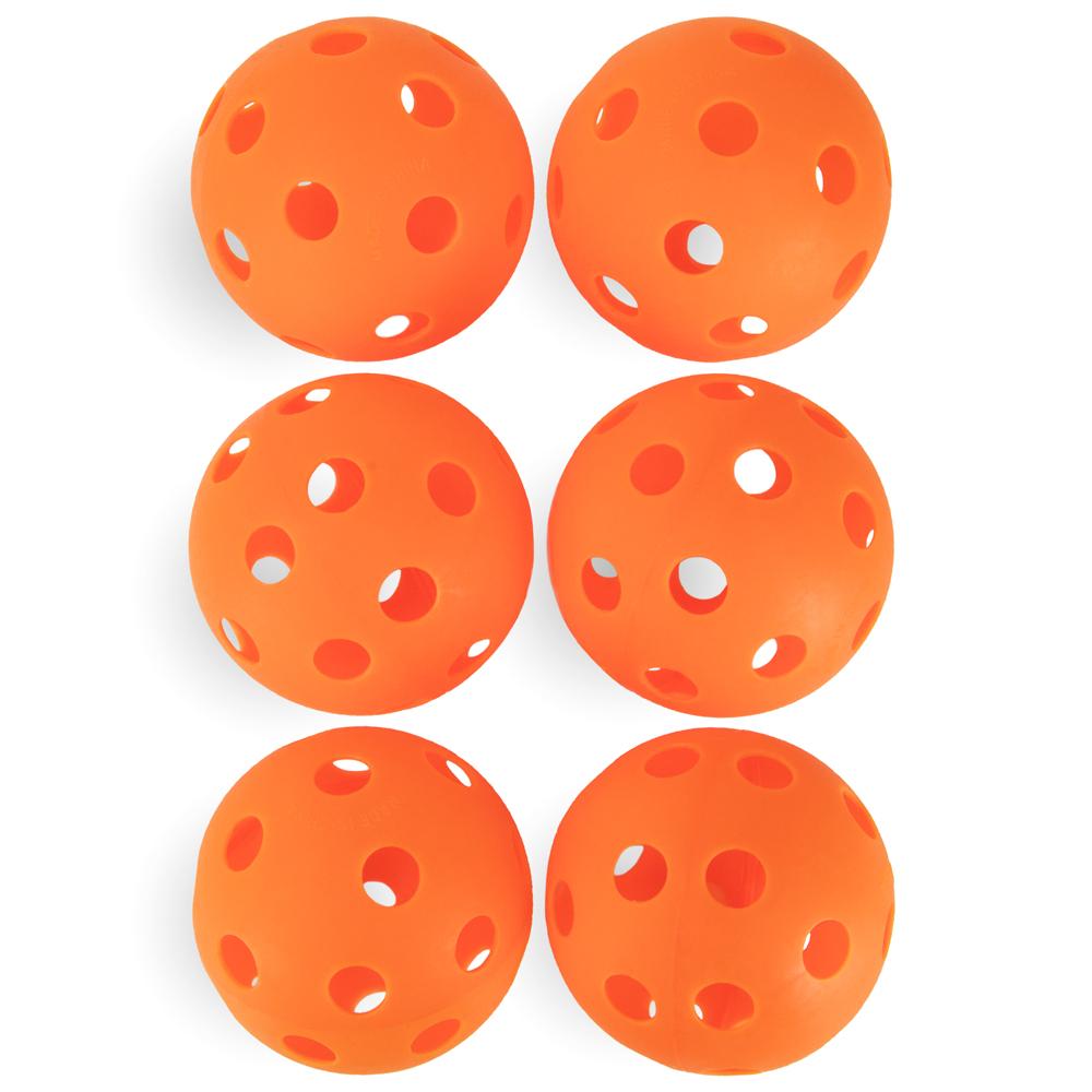 "6-Pack of 12"" Practice Softballs, Orange"