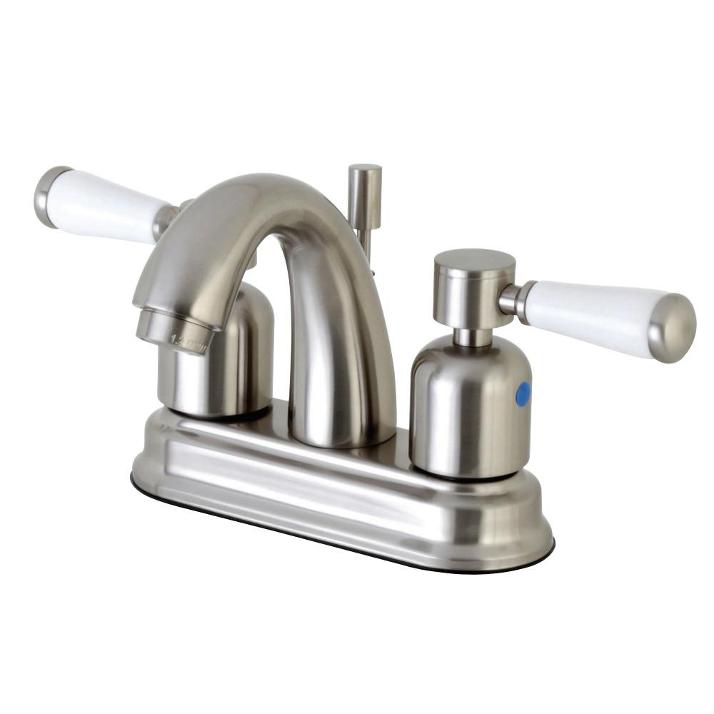 Kingston Brass FB5618DPL 4 in. Centerset Bathroom Faucet, Brushed Nickel