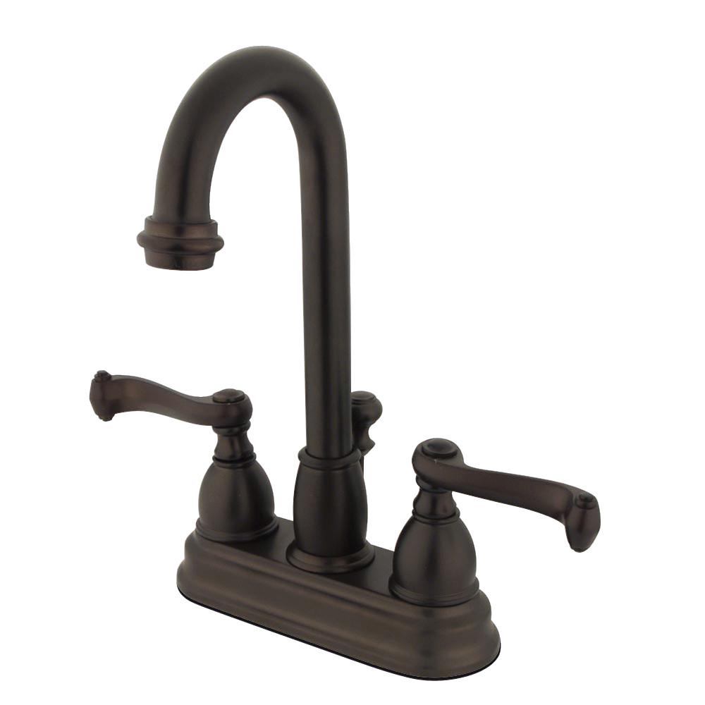 Kingston Brass KB3615FL 4 in. Centerset Bathroom Faucet, Oil Rubbed Bronze