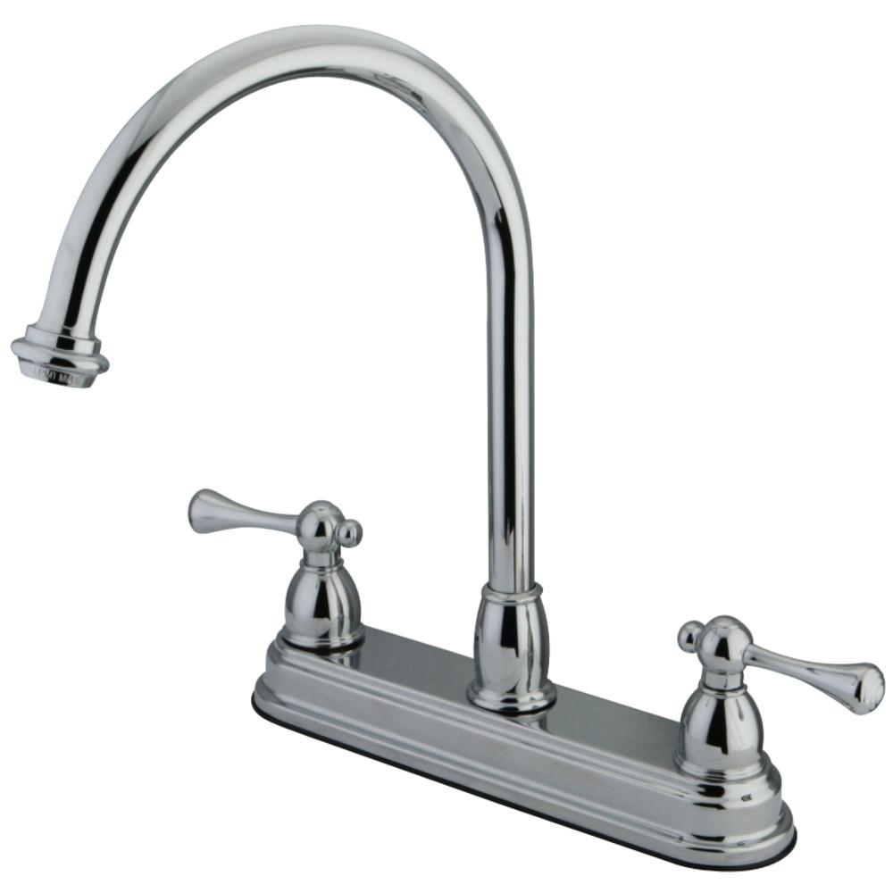 Kingston Brass KB3741BL 8-Inch Centerset Kitchen Faucet, Polished Chrome