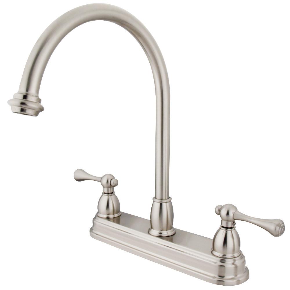 Kingston Brass KB3748BL 8-Inch Centerset Kitchen Faucet, Brushed Nickel