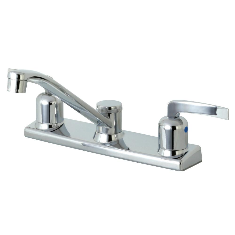 Kingston Brass FB121EFL Centurion 8-Inch Centerset Kitchen Faucet, Polished Chrome