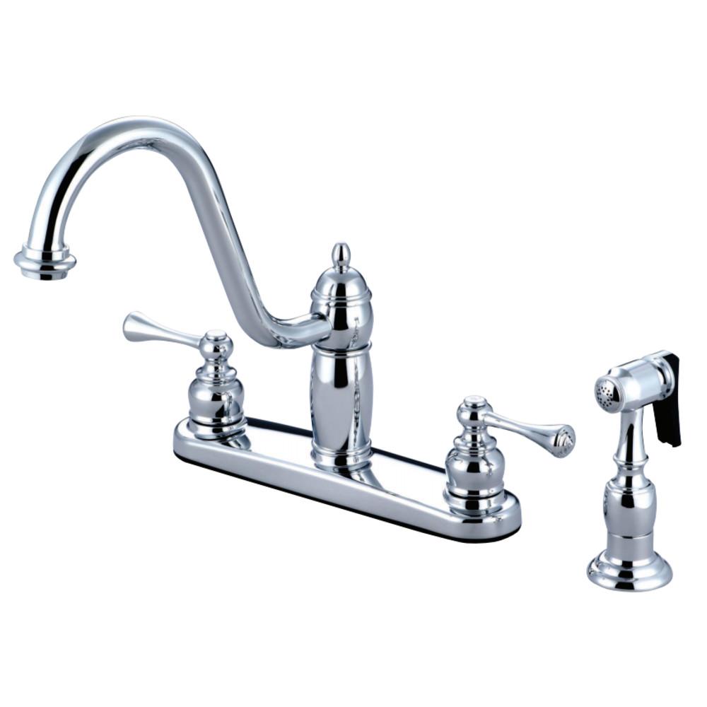 Kingston Brass KB1111BLBS Heritage Centerset Kitchen Faucet, Polished Chrome