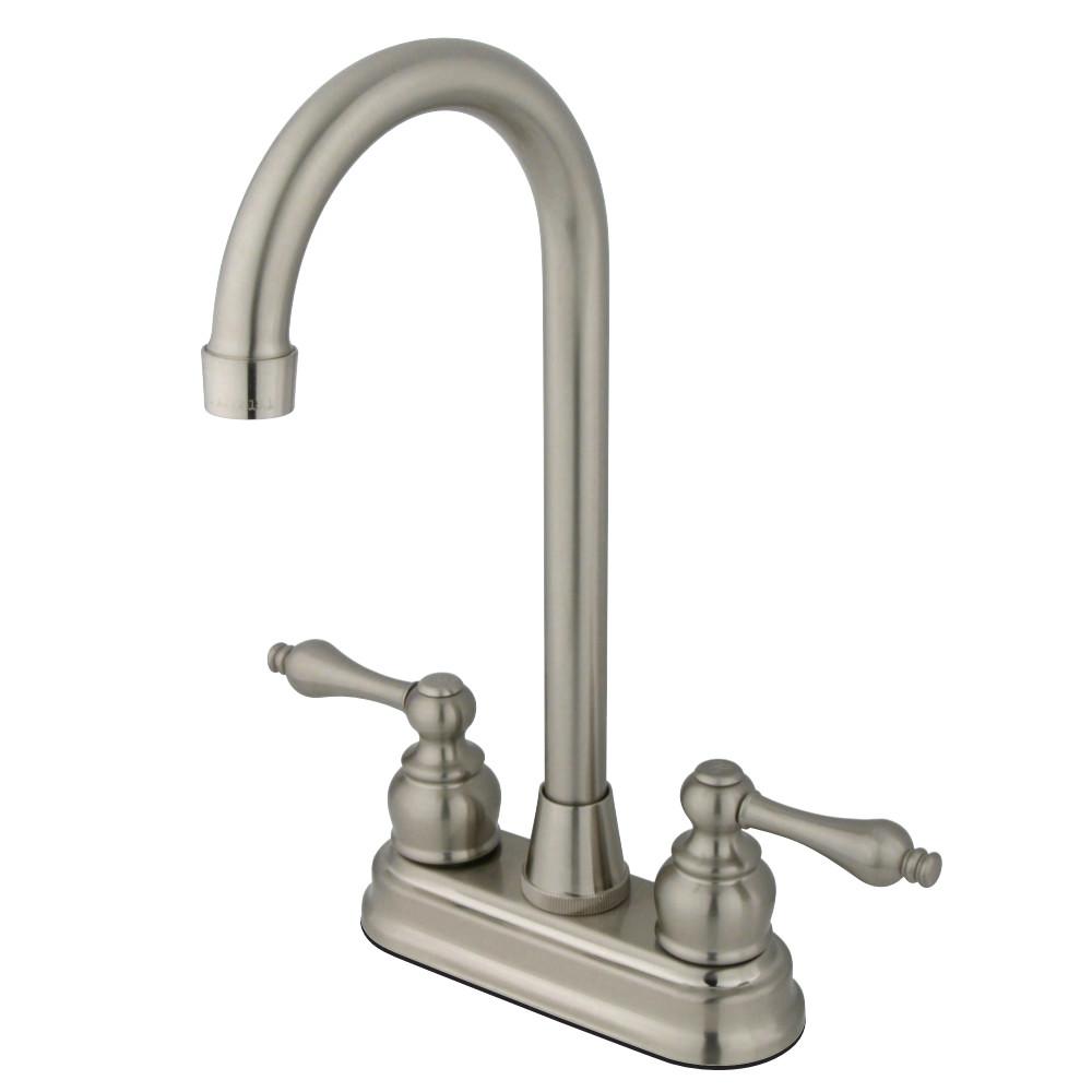 Kingston Brass FB498AL Victorian 4-Inch Centerset Bar Faucet, Brushed Nickel