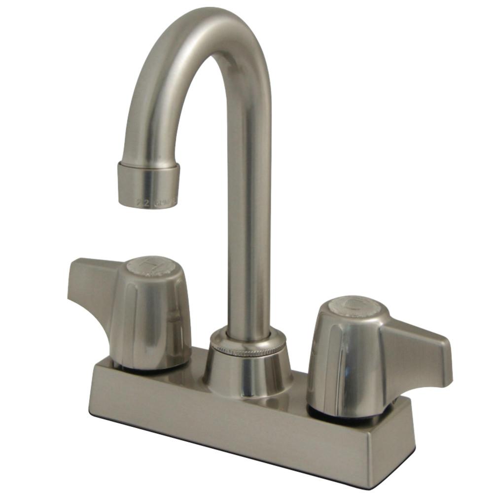 """Kingston Brass KB460SN Vista 4"""" Centerset Bar Faucet, Brushed Nickel"""