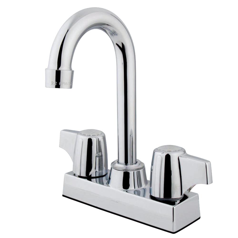 "Kingston Brass KB460 Vista 4""Centerset Bar Faucet, Polished Chrome"