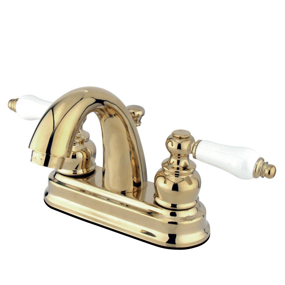 Kingston Brass KB5612PL Restoration 4 in. Centerset Bathroom Faucet, Polished Brass