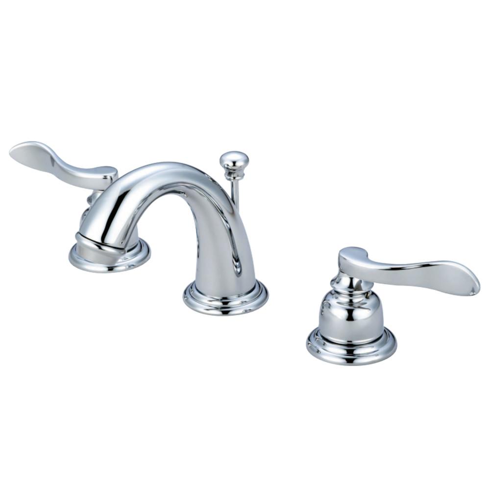 Kingston Brass KB8911NFL NuWave French Widespread Bathroom Faucet, Polished Chrome