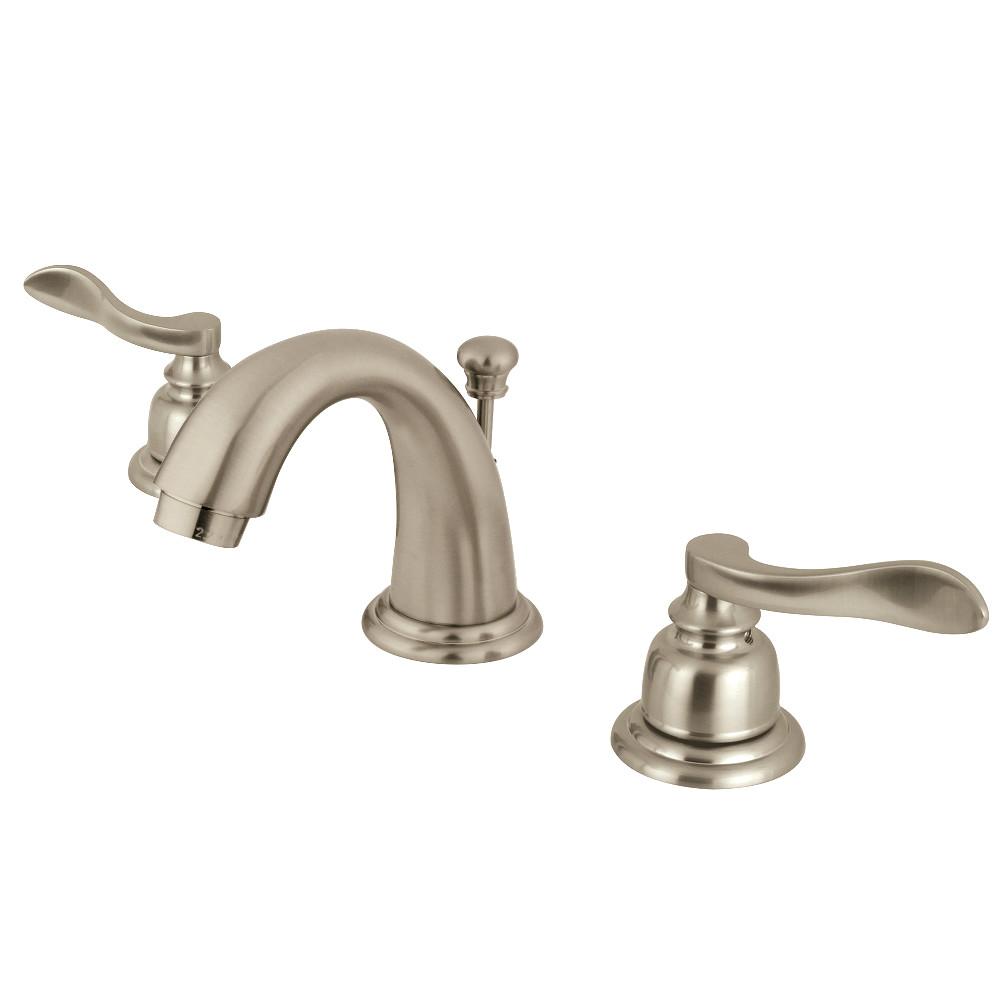 Kingston Brass KB8918NFL NuWave French Widespread Bathroom Faucet, Brushed Nickel