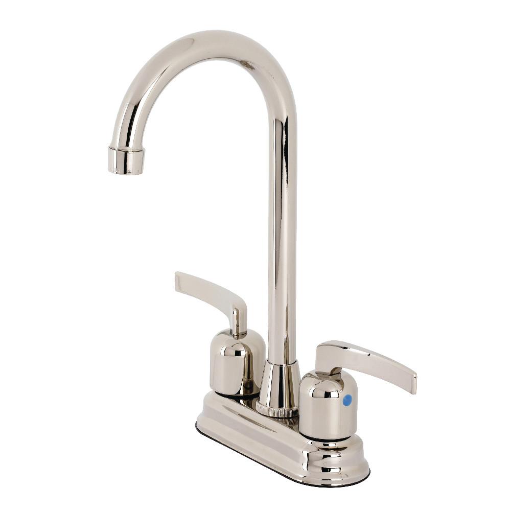 Kingston Brass KB8496EFL Centurion Bar Faucet, Polished Nickel