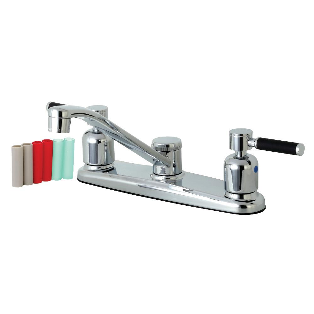 Kingston Brass FB111DKL Kaiser 8-Inch Centerset Kitchen Faucet, Polished Chrome