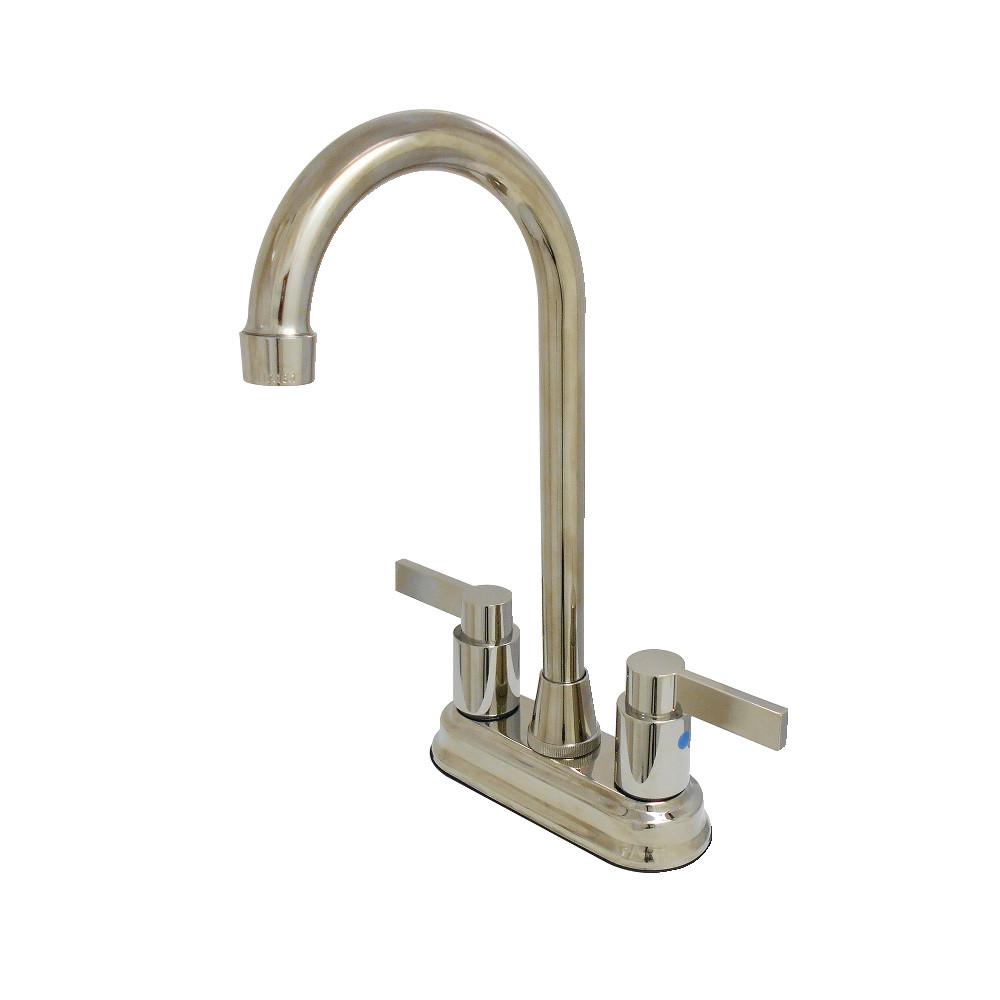 "Kingston Brass KB8496NDL NuvoFusion 4"" Centerset Bar Faucet, Polished Nickel"