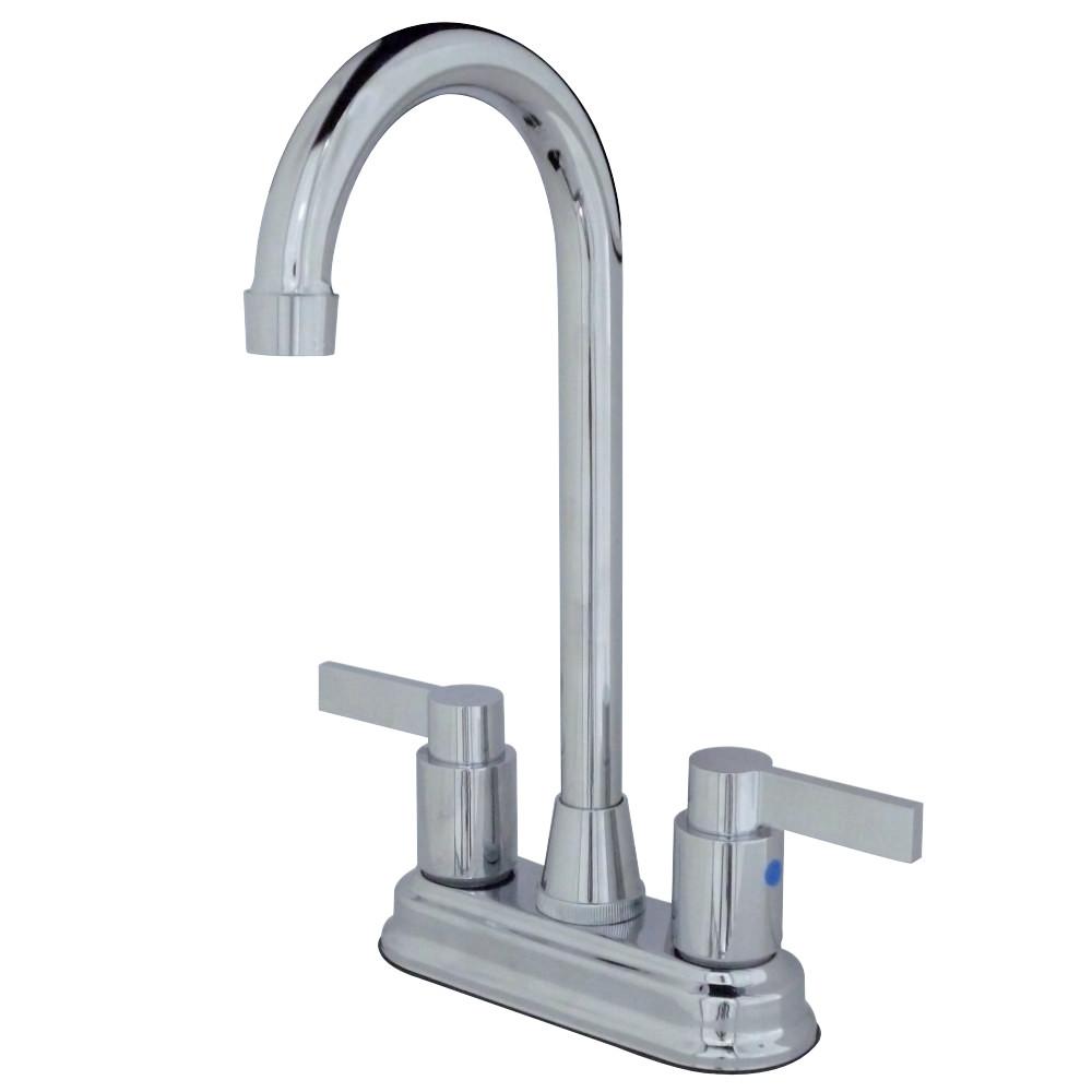 "Kingston Brass KB8491NDL NuvoFusion 4"" Centerset Bar Faucet, Polished Chrome"