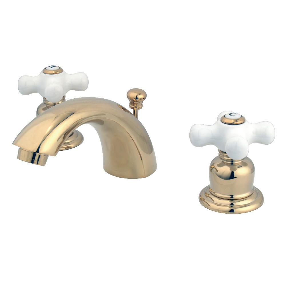Kingston Brass KB952PX Victorian Mini-Widespread Bathroom Faucet, Polished Brass