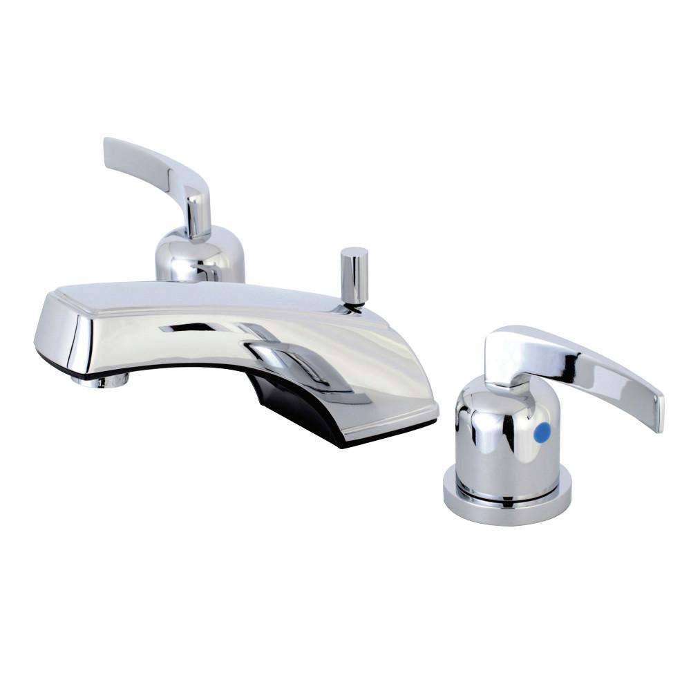 Kingston Brass KB8921EFL 8 in. Widespread Bathroom Faucet, Polished Chrome