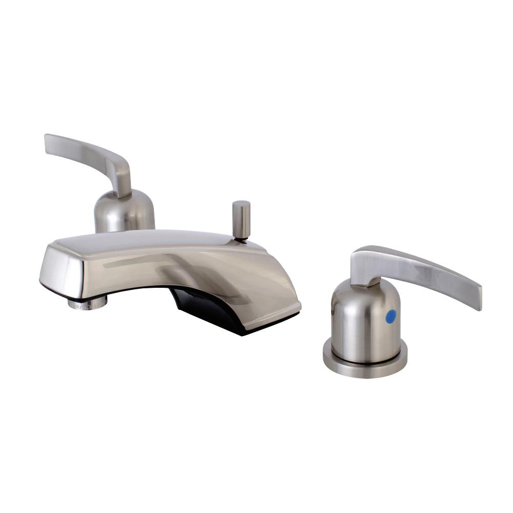 Kingston Brass KB8928EFL 8 in. Widespread Bathroom Faucet, Brushed Nickel
