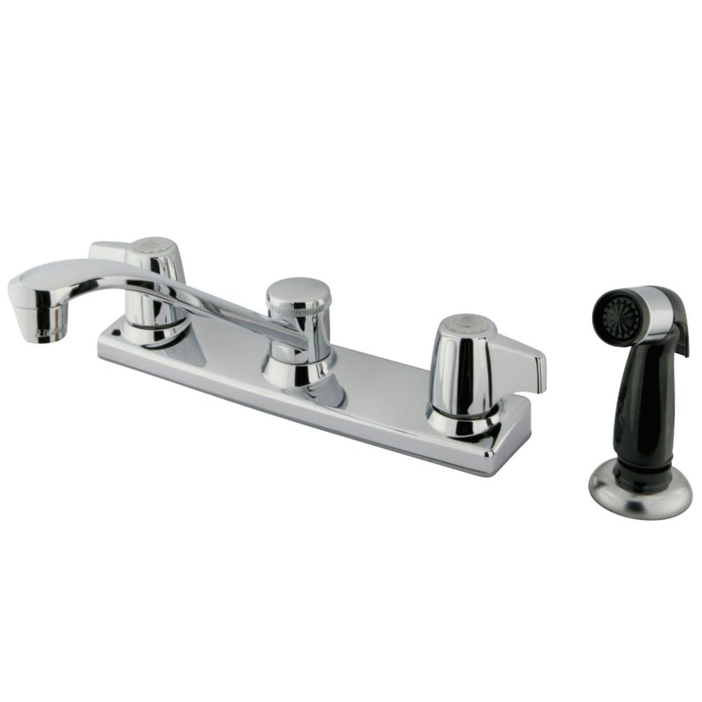 Kingston Brass KB120P 8-Inch Centerset Kitchen Faucet, Polished Chrome