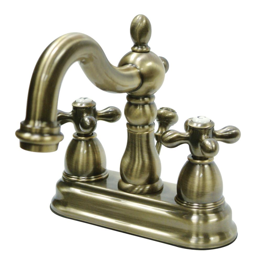 Kingston Brass KB1603AX Heritage 4 in. Centerset Bathroom Faucet, Antique Brass